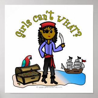 Dark Female Pirate Print