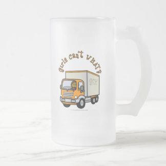Dark Female Truck Driver Mugs