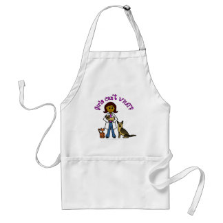 Dark Female Veterinarian Standard Apron