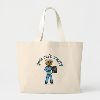Dark Female X-Ray Technologist Large Tote Bag