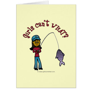 Dark Fishing Girl Greeting Card