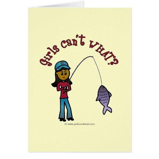 Dark Fishing Girl Card