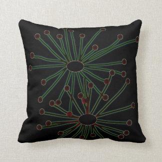 Dark Floral American MoJo Pillow Throw Cushion