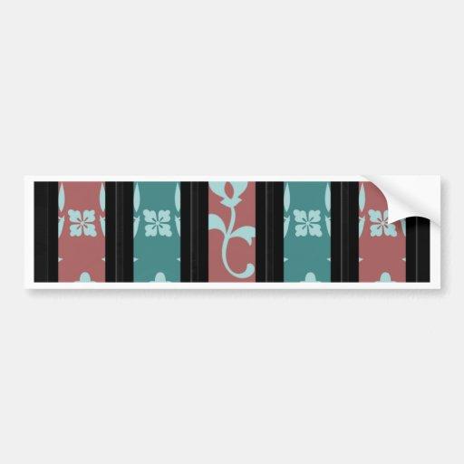 Dark Floral Print Bumper Sticker
