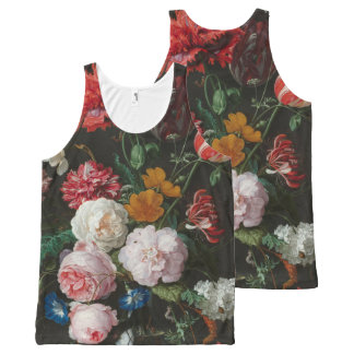 Dark Floral Still Life Tank All-Over Print Tank Top