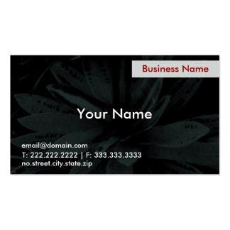 Dark flower business cards