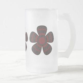 dark flower design mug