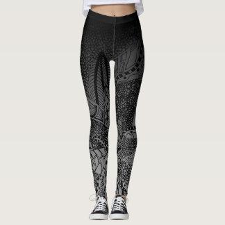 dark flower leggings