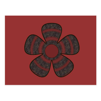 dark flower postcard
