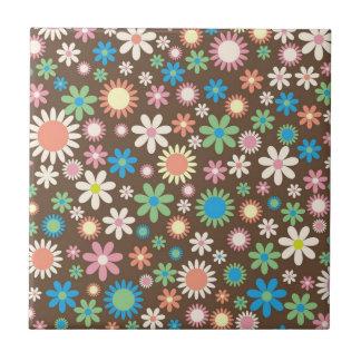 Dark Flower Power Tile