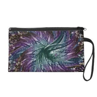 dark flower wristlet purses