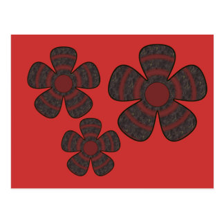 dark flowers postcard