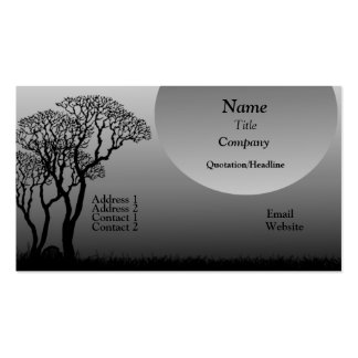 Dark Forest Business Card, Metallic Gray Pack Of Standard Business Cards