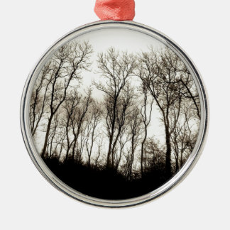 Dark forest christmas ornament