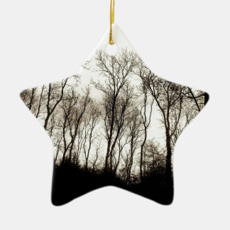 Dark forest christmas ornament
