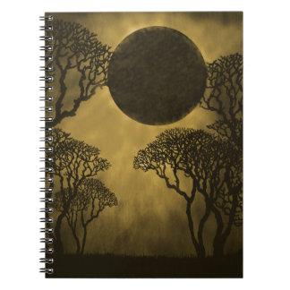 Dark Forest Eclipse Notebook, Gold Notebooks