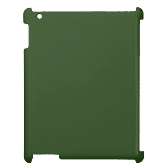 Dark Forest Green iPad Case