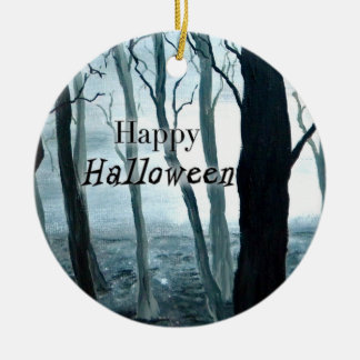 Dark Forest Halloween ornament