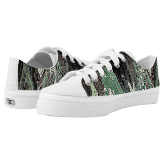 Dark forest printed shoes
