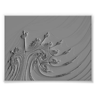 Dark fractal photo print