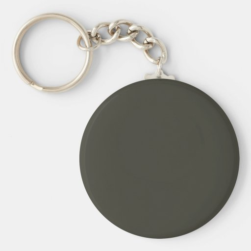 Dark French Steel Grey 10a Color Only Custom Key Chain