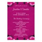 Dark Fuchsia Floral Flat Wedding Program Template