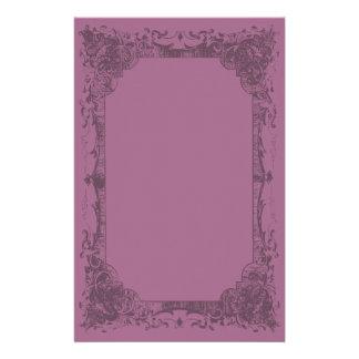 Dark Fuschia Romantic French Flourish Stationery