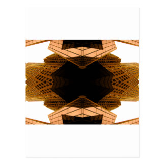 Dark Futuristic Design to Customize Postcard