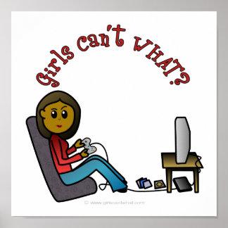 Dark Gamer Girl Poster