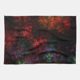 Dark Garden Fractal Tea Towel