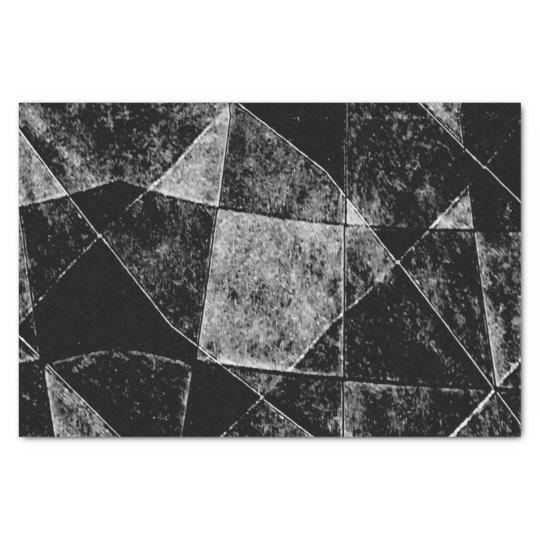Dark Geometric Grunge Pattern Print Tissue Paper
