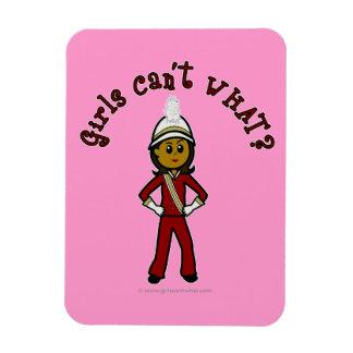Dark Girl in Red Marching Band Uniform Vinyl Magnet