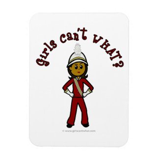 Dark Girl in Red Marching Band Uniform Rectangular Magnet