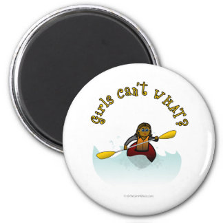 Dark Girl Kayaker Magnets