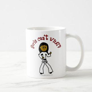 Dark Girl Martial Artist Basic White Mug