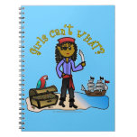 Dark Girl Pirate Notebook