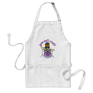 Dark Girl Playing Drums Standard Apron