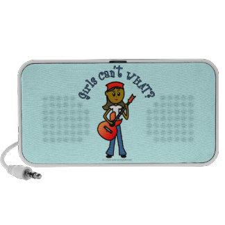 Dark Girl Playing Guitar iPod Speakers