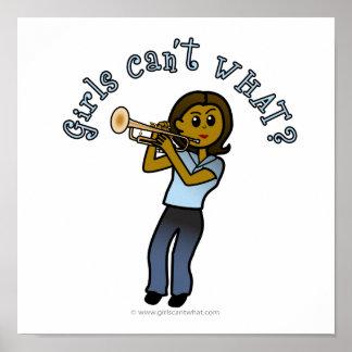 Dark Girl Playing Trumpet Poster