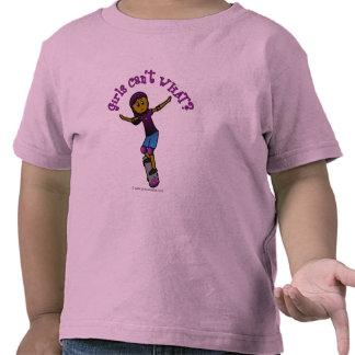 Dark Girl Skater with Helmet T Shirts