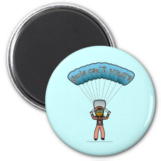 Dark Girl Sky Diver 6 Cm Round Magnet