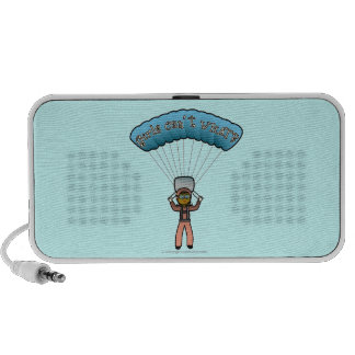 Dark Girl Sky Diver iPod Speaker