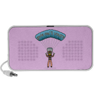 Dark Girl Sky Diver Portable Speaker