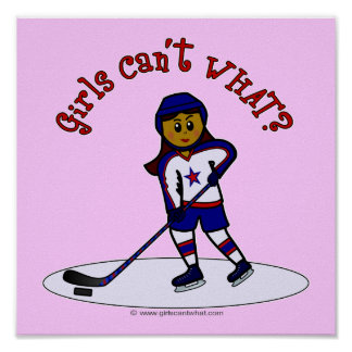 Dark Girls Hockey Player Poster