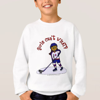 Dark Girls Hockey Player Sweatshirt