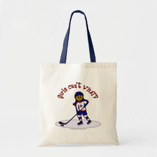 Dark Girls Hockey Player Tote Bag