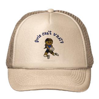 Dark Girls Volleyball in Blue Uniform Trucker Hat