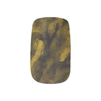 Dark Gold Grunge Abstract Minx Nail Stickers