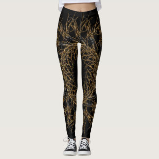 dark gold leggings