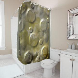 Dark Gold Shower Curtain